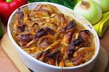 Łopatka wieprzowa pieczona w piekarniku z cebulą i czosnkiem