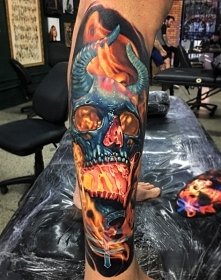 tattoo 3d demon