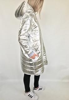 srebrny silver oversize płaszcz pikowany zima kiesznie od edekzkrainykredek2 z 27 października - najlepsze stylizacje i ciuszki