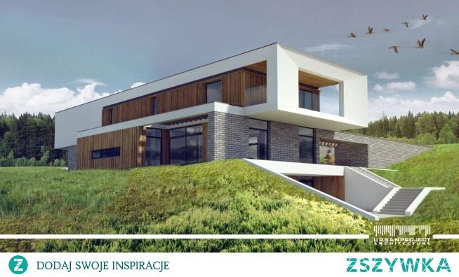 Rezydencja w stylu nowoczesnym na stoku z wewnętrznym patio, basenem i domem dla gości