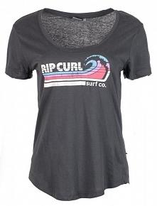 Rip Curl T-Shirt Damski Surf Co S Ciemnoszary
