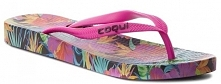 Coqui Japonki Damskie Kaja Jungle Flowers/Fuchsia 36