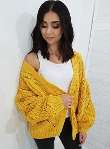 Kardigan TOSSIA żółty. Ottanta - sklep online
