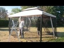 Montaż pawilonu ogrodowego z moskitierą Walencja 3x4m