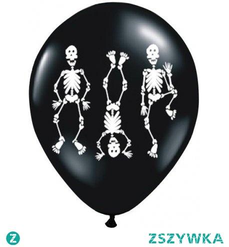 Witajcie, Gotowi na Halloween?  Czarny balon halloween z helem w białe kościotrupy.  Wielkość: 30 cm (12 cali).   Balon mocny, będzie unosił się w powietrzu do 10h.  Przy zakupie dokonaj wyboru: -sam balon czy np. -balon + hel.  UWAGA! Nie wysyłamy balonów napełnionych helem, jedynie odbiór osobisty w sklepach stacjonarnych w Krakowie.