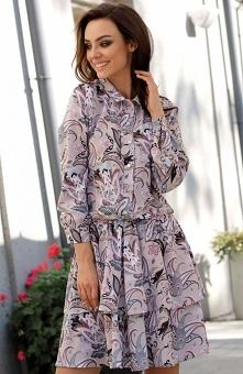 Lemoniade L281 sukienka pantofelki Modna sukienka w piękny print, sukienka jest niezwykle wygodna, a zarazem bardzo urocza, doskonale wpisuje się w najnowsze trendy modowe