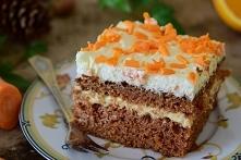Ciasto mega marchewkowe z kremem