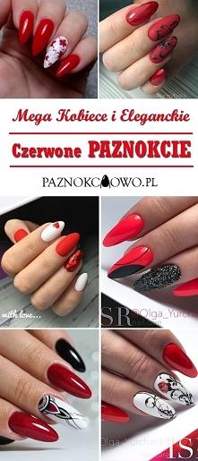Mega Kobiece i Eleganckie – Czerwone Paznokcie: TOP 27 Modnych Inspiracji dla...