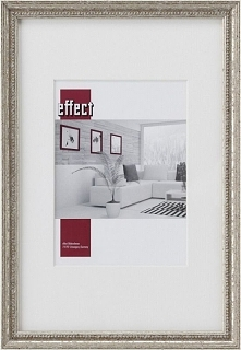 Ramka Effect Bilderrahmen Effect Profil 66, 24x30, drewniana, srebrny  (S660,...