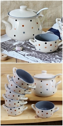 Zestaw ceramiczny WAZA 1800 ml + 6 MISECZEK 340 ml <3 Istny must have!