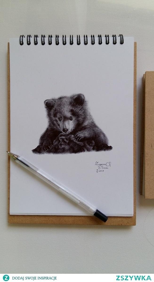 Długopis na papierze, A5 :) fb/zuzarysowana, ig: @suzanne.musial