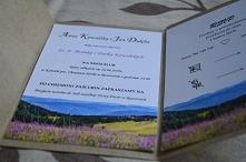Zaproszenia ślubne w folderze więcej informacji na poligrafiapr@interia.pl