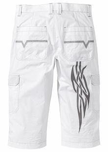Spodnie 3/4 Regular Fit bonprix biały