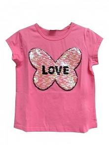 Topo T-Shirt Dziewczęcy 152 Różowy