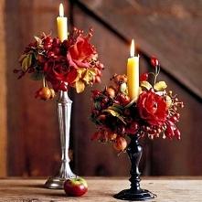 śliczne jesienne świeczniki :)