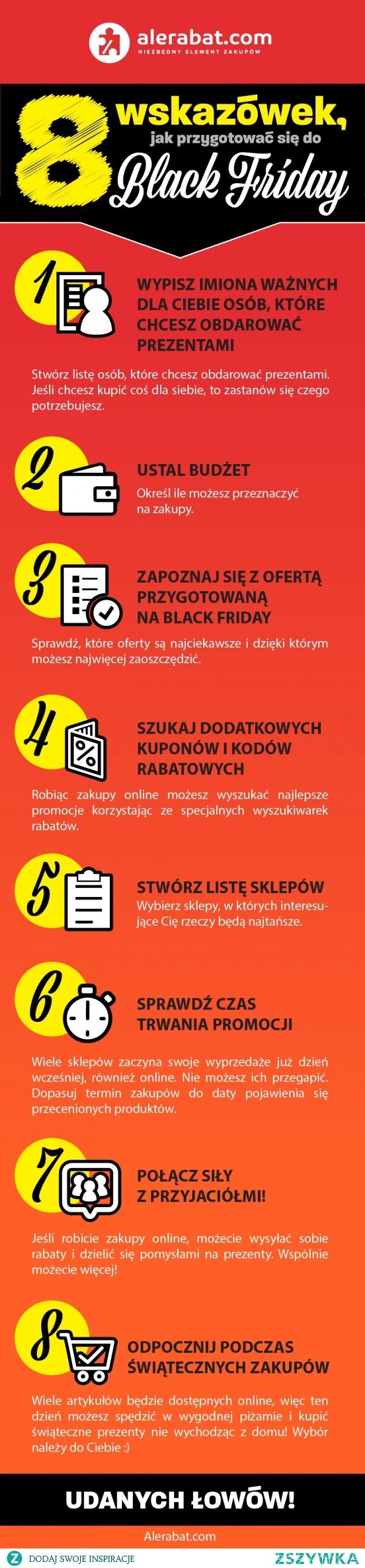 8 wskazówek jak przygotować się na Black Friday - infografika