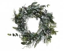 Kaemingk Ozdoba Świąteczna - Wieniec Adwentowy Z Jagodami, Zielony, Ze Śniegiem