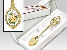 CARMANI Łyżeczka do herbaty gold Bukiet Kwiatów (103-1210)