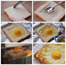 jajko sadzone w chlebie