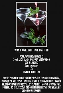 waniliowo-miętowe martini