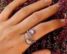 Pierścionek srebrny z kamie...