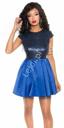 Niebieska sukienka cekinowa...