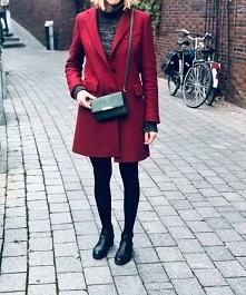 bordowy płaszczyk od Lukrecja1989 z 12 listopada - najlepsze stylizacje i ciuszki