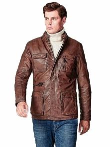Skórzana kurtka w kolorze jasnobrązowym