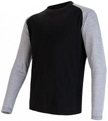 Sensor Koszulka Termoaktywna Z Długim Rękawem Merino Active Pt Logo M Black/G...