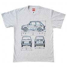 koszulka FIAT 126 MALUCH GRAY tshirt