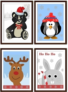 Zimowe plakaty dla dzieci do pobrania za darmo