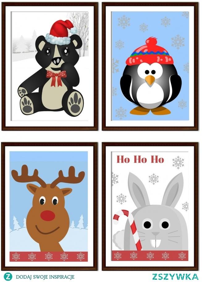 Zimowe Plakaty Dla Dzieci Do Pobrania Za Darmo Na Moje Diy