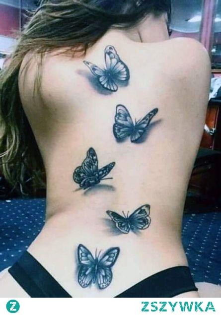 Tatuaże Damskie Motyle 3d Na Plecach Na Tatuaże Zszywkapl