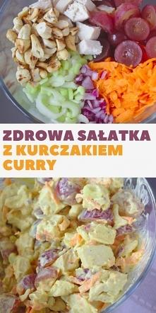 Zdrowa sałatka curry z kurc...