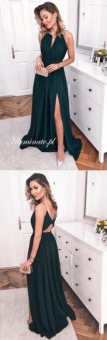 Długa zielona sukienka na Studniówkę <3 Tylko w kolekcji Illuminate <3