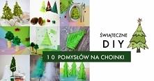 DIY 10 pomysłów na kreatywne choinki