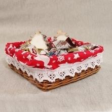 Obszywany koszyk z świątecz...