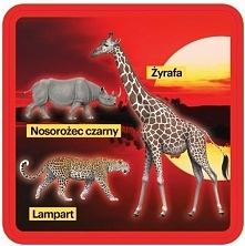 Podkładki pod kubek ze zwierzętami Afryki - 2 szt.