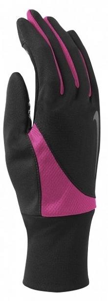 Nike Rękawice Biegowe Women's Dri-Fit Tailwind Run Gloves Black/Hyper Pink L