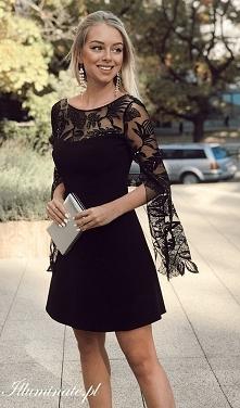 Śliczna czarna wieczorowa sukienka z kolekcji Illuminate <3