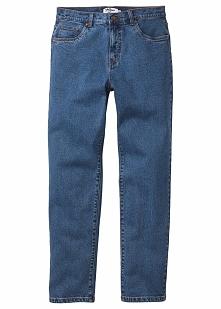 Dżinsy ze stretchem Classic Fit Tapered bonprix niebieski