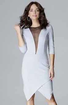 Lenitif L012 sukienka szara...