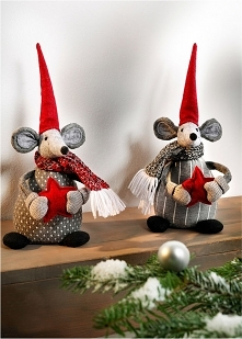 Świąteczne myszy. Cudowne figurki świąteczne!