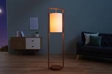 Minimalistyczna lampa stojąca do salony w skandynawskim stylu. Kliknij w zdję...