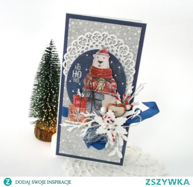 Wyjątkowa kartka świąteczna.  Pakowana w folijkę, sprzedawana z kopertą. Rozmiar ok 10x20 cm  Zapraszam!