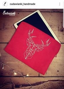 etui na tablet z haftem jelenia by Cudawianki Handmade