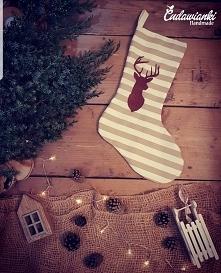 skarpety świąteczne by Cudawianki Handmade skarpety na zamówienie skarpety z ...