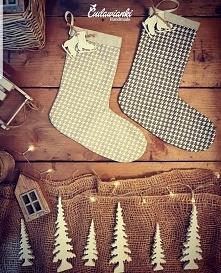 skarpety świąteczne by Cudawianki Handmade skarpety dekoracyjne dekoracje świ...