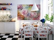 Różany zakątek - nowoczesny obraz na płótnie