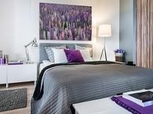 W tonie lawendy - fotoobraz do sypialni